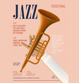 jazz poster template for musical concert placard vector image vector image