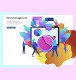 landing page template of planning timework vector image