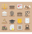 Law colorful icons vector image vector image