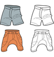 men shorts vector image vector image