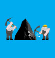 miner worker mining isolated collier with pickaxe vector image vector image