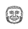 neanderthal male head doodle art vector image vector image