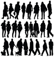 people silhouette walking vector image vector image