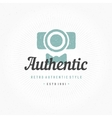 Photographer Hand Drawn Logo Template vector image