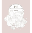 Pie ingredients Vintage Sketch vector image vector image