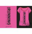 pink sport fashion print t shirt vector image