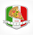 pizza sticker on white vector image vector image