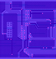 printed circuit board stylization vector image