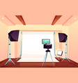professional photo studio interior cartoon vector image vector image