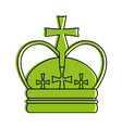 royal crown with crosses icon image vector image vector image