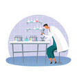 science lab with scientist scientific laboratory vector image
