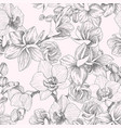 seamless pattern hand drawn outline bouquet vector image vector image