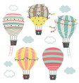 set isolated hot air balloons part 2 vector image vector image