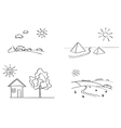 set of landscapes vector image vector image