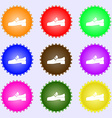 Shoe icon sign Big set of colorful diverse vector image vector image