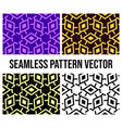 snowflake seamless pattern with 4 color vector image