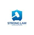 strong law logo designs law shield logo template vector image vector image