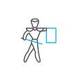 toreador linear icon concept toreador line vector image vector image