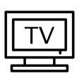 tv line icon television vector image vector image