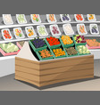 vegetables shop fresh healthy vegetables in vector image