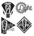 Vintage lighting shop emblems vector image vector image