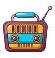vintage radio icon cartoon style vector image