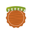 wooden emblem grocery tent vector image