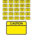 Yellow caution signs