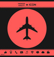 airplane icon vector image