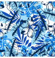 abstract blue flower pattern vector image