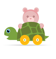 baby toys turtle with teddy vector image