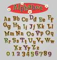 hand drawn cartoon alphabet vector image