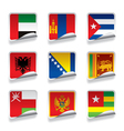 Sticker flags vector image
