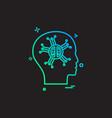 artificial brain intelligence robo icon design vector image
