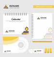 burner logo calendar template cd cover diary and vector image vector image