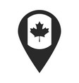 canada day canadian flag in navigation pin vector image