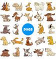 cartoon dog and puppies characters large set vector image vector image