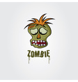 Cartoon Zombie face design template vector image