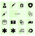 clinic icons vector image vector image