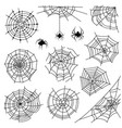 cobweb halloween monochrome spiderweb and vector image vector image