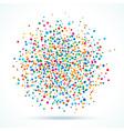 colorful abstract blot dots vector image