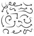 creative of black hand drawn vector image