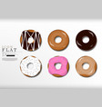 doughnut cartoon flat icon sweet dessert vector image
