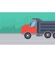 dump truck landscape vector image vector image