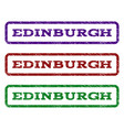 edinburgh watermark stamp vector image vector image