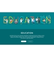 Education Conceptual Web Banner in Flat vector image