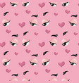 flirting face pattern vector image