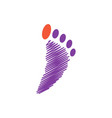 foot palm icon design template vector image vector image