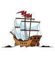 galleon mascot logo vector image vector image
