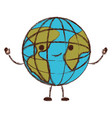 globe world cartoon kawaii in colorful blurred vector image vector image